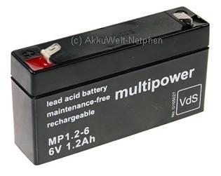 Multipower MP1.2-6 Anschluss 4,8mm 6.0V 1,2Ah