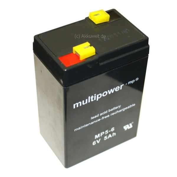 Multipower MP4.5-6 Blei Gel Akku Qiang Jun Qiangjing Consent GS6V4Ah
