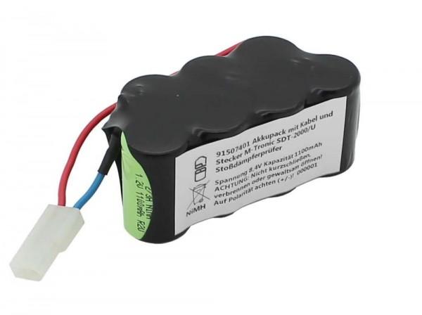 Ersatzakku Messgeräteakku mit Kabel und Stecker passend für M-Tronic SDT-2000/U Stoßdämpferprüfer