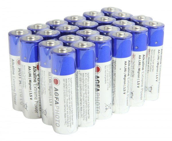 24er AGFA Extreme Power Mignon AA - LR06 Alkaline Batterien