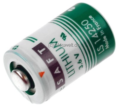 Saft LS14250 Lithium - Batterie 1/2AA Mignon 3D Taste Heidenhain