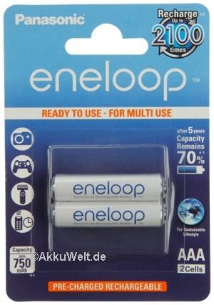 Panasonic Eneloop Micro AAA HR-4UTG 1,2V 2er Blister
