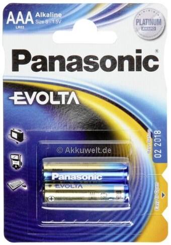 Batterie Panasonic Evolta LR03 Micro AAA für Fluke 411D 416D 42
