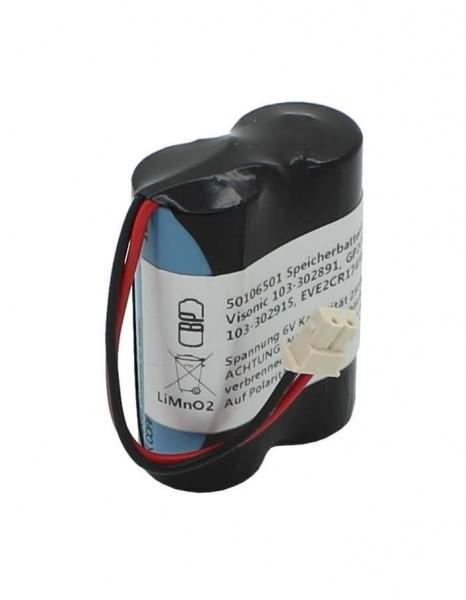 Speicherbatterie 6V ersetzt Visonic 103-302891 GP2CR123A-C 103-302915 EVE2CR17450-C Visonic Next CAM