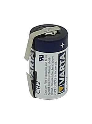 Varta 6206 Lithium CR2 mit Lötfahnen U-Form