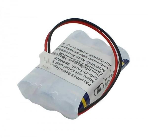 Ersatzbatteriepack passend für Micro AAA mit Kabel und Stecker ersetzt Panasonic 38400200