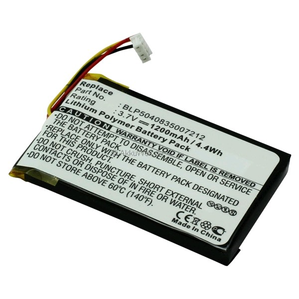 Ersatzakku für GPS Navi Falk F5 F8 F10 F12 4 Pins BLP-504083500