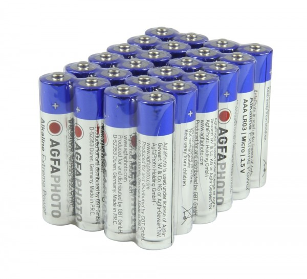 24er AGFA Extreme Power Micro AAA Alkaline Batterien