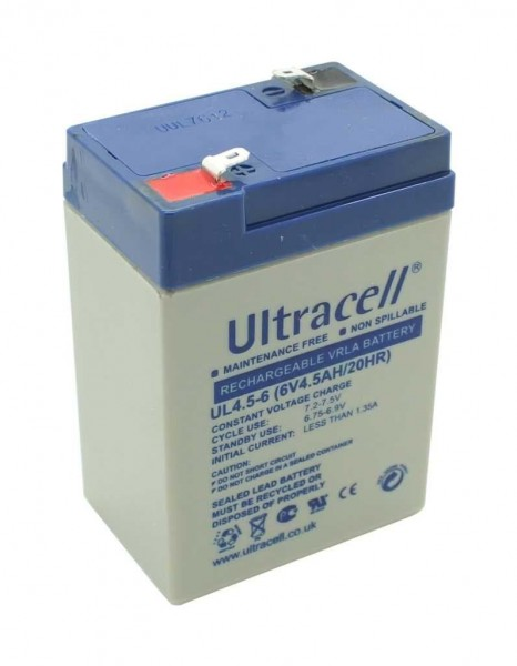 Ultracell UL4.5-6 6V 4,5Ah baugl. Hawker Yuasa NP4-6 Sealake FM640A FM 640A