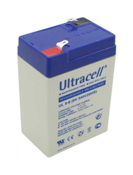Original Ultracell bgl. Fiamm FG10451 für Handlampe Amperlux 2931 Famosa Feber Aroma 3-FM-4 3-FM-4,5