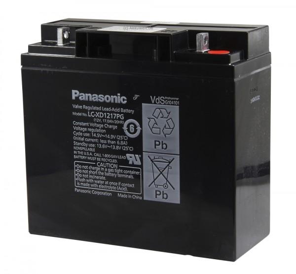 Ersatzakku Panasonic LC-XD1217PG für Evita 4 Evita 2 dura extern (2X) von Dräger