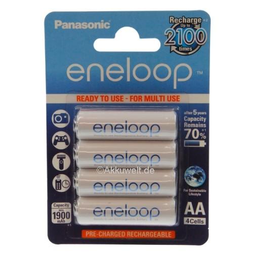 Panasonic Eneloop Akkus Mignon AA HR-3U 4er Blister