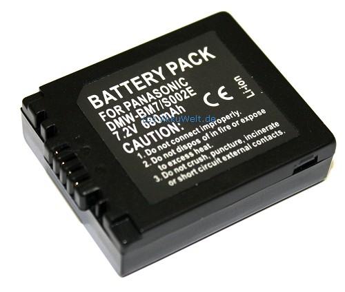 Ersatz Akku für Panasonic DMW-BM7 CGA-S002 CGR-S002 DMC-FZ1