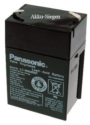 Panasonic LC-R064R5P Blei Gel Akku Anschl 4,8mm 6V 4,5Ah