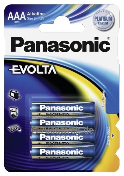 Batterie Panasonic Evolta LR03 Micro AAA 4er Blister 1,5V Size S