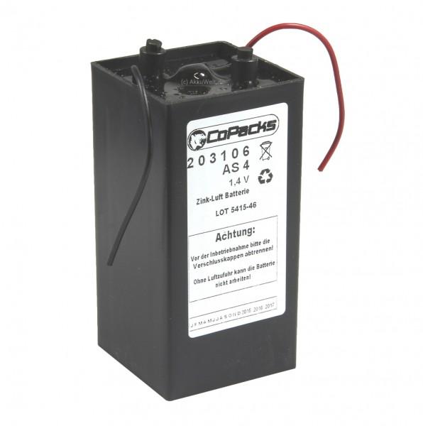 AP Zink Luft Batterie AS4 1,4 Volt 70 Ah
