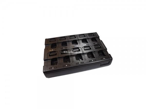 Ladegerät 6-fach + Zusatzschacht für Ersatzakku passend für Motorola MTP850FuG/ MTP850S/ MTP850