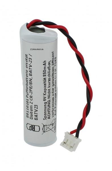 Pufferbatterie passend für Daitem 2 CR-2PE/BN Daitem BATV-23 / BATV23 Daitem D24000 Daitem D-Contro