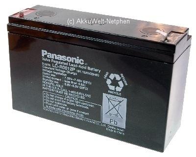 Panasonic LC-R0612P Anschluss 4,8mm 6V 12.0 Ah
