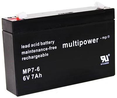 Multipower Blei Gel Akku MP7-6 NEATA NT6-7.0 XK06-044-00885 AVIGO Mini Cooper S