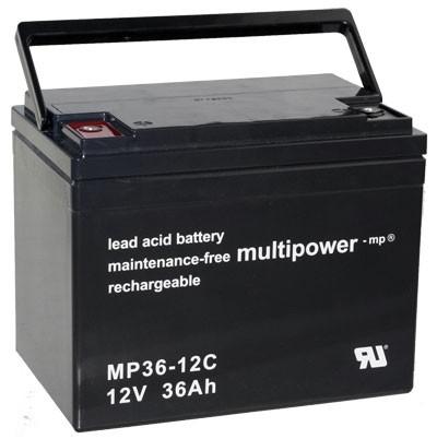 Multipower MP36-12C für E-Rollstuhl Ortopedis Compact 920 N 36 Shoprider TE 778 TE-888 NR U1-36NE