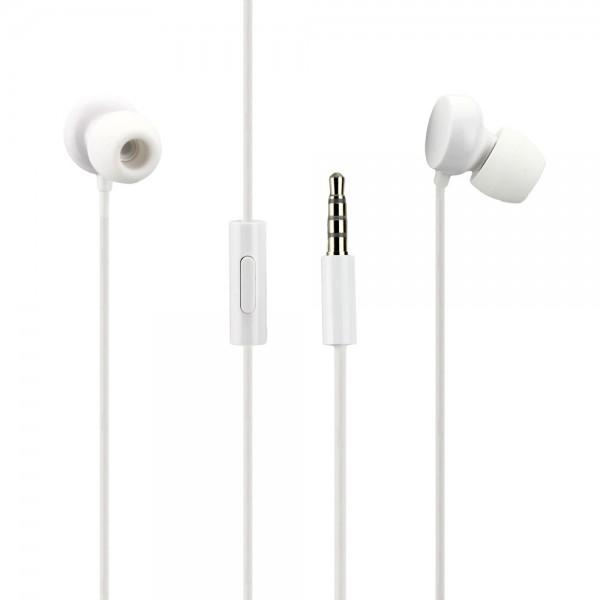 Nokia WH-208 Stereo Headset weiß 3.5 mm Klinke 1,2m Kabellänge