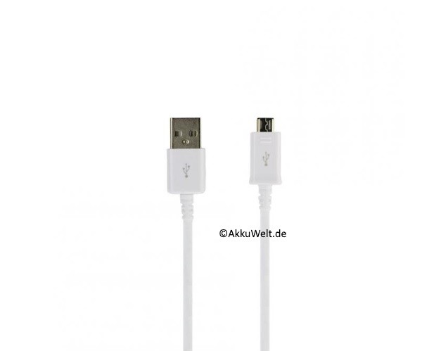 Samsung USB Datenkabel Ladefunktion USB 2.0 1m für alle Geräte mit micro USB Lade-Anschluss