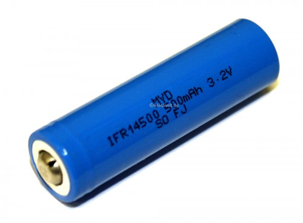 IFR 14500 IFR14500 LiFePO4 3,2V 600mAh Mignon AA Diverse Hersteller QVC Solithia, Solutions
